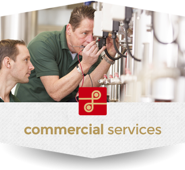 Graphic link for Lindsey Electric's Commercial services